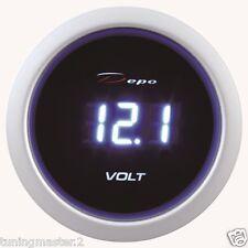 Manometro Strumento 52mm DEPO Voltmetro Volt 8-18 Volts Digitale Nero/Blu