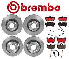 For Porsche Cayenne Front & Rear Vented Disc Brake Rotors w/ Pads & Sensors OEM
