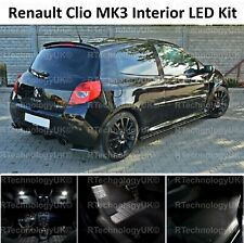 PREMIUM RENAULT CLIO MK3 SPORT 05-12 INTERIOR WHITE LED LIGHT BULB UPGRADE KIT