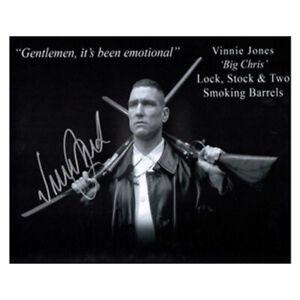 Vinnie Jones Signed Lock, Stock and Two Smoking Barrels Photo