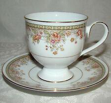 8 Noritake Ireland Morning Jewel # 2767 Pedestal Cups & Saucers