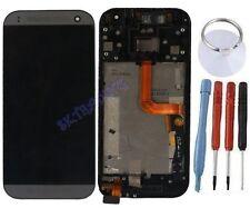 ECRAN LCD + VITRE TACTILE SUR CHASSIS BLOC COMPLETE POUR HTC ONE MINI 2 NOIR