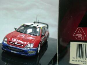 WOW EXTREMELY RARE Citroen Xsara WRC Loeb Sanremo 2003 1:43 Auto Art-Minichamps