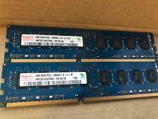 8 GB (2x4GB) PC3 - 10600U DI MEMORIA HYNIX DDR3 1333 MHz testato completamente funzionante
