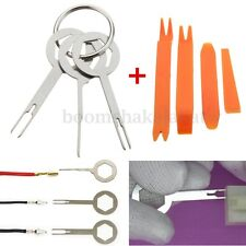 3Pcs Car Wire Crimp Terminal Removal + 4Pcs Audio Dismounting Extractor Tool Kit