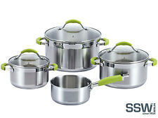 SSW Topfset GREEN APPLE Edelstahl Induktion Silikon-Griffe