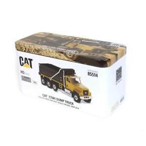 1/87 Caterpillar CAT CT681 Dump Truck Black and Yellow - High Line Series 85514