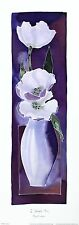 HAZEL BURROWS Straight Story TULIPS floral art SIZE:48cm x 13cm  RARE