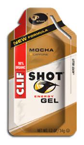 Clif Bar Clif Shot Energy Gel Mochaw w/ 50mg Caffeine Box of 24