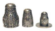 Russian Doll Cossak Man Thimble Fingerhut Pewter Collectible Thimble