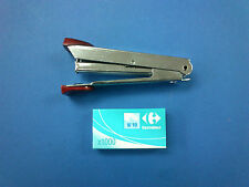 Vintage Mini No10 Stapler - All Metal Construction with FREE 1000 Staples