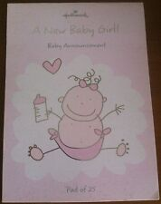 Baby Girl Birth Announcement Sheeted Pad - A New Baby Girl! - 25 Sheets