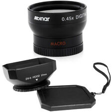 Albinar 37mm Wide Angle Lens + Square Hood for Sony DCR-TRV350 TRV37 SR5 SR7 SR8
