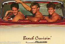 POSTER: BEACH CRUISIN' - 3 SEXY GUY MODELS IN OLD CAR-FREE SHIP #0308757 RAP 2 A