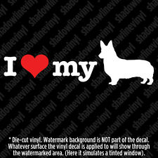 I Love My Corgi Vinyl Decal Sticker Pet Herding Dog Lover Pembroke Welsh Breed