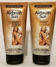 2 Sally Hansen Airbrush Sun (LIGHT TO MEDIUM-01) Tanning Lotion 5.9 oz each