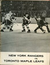 Jan 5 1964 NHL Hockey Program Toronto Maple Leafs vs New York Rangers VGEX
