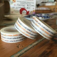 WASHI TAPE MADE WITH LOVE. REPEAT. 15MM WIDE X 10MTR ROLL SCRAP PLAN CRAFT WRAP