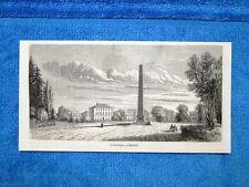 Gravure Année 1862 - L'obélisque à Munich (Allemagne-Germania)