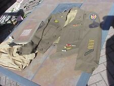 ORIGINAL WWII D-DAY VETERANS IKE JACKET / UNIT HISTORY 834TH AVIATION ENGINEERS