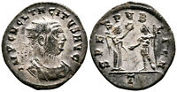 TACITUS (276 AD) Silvered AE Antoninianus. Cyzicus #LA 5556