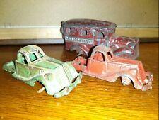 Vintage Arcade Cast Iron Trucks Police paddy wagon Toy Metal Lot Look