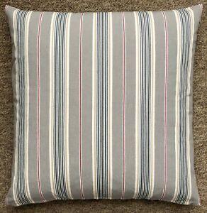 """IKEA Daggvide Grey Multicolour Striped Cotton Cushion & Cover 20""""x 20"""" New"""