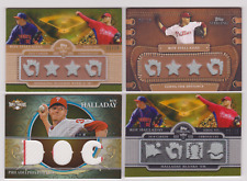 2009 TOPPS STERLING ROY HALLADAY GAME USED JERSEY RELIC LOT