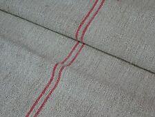 Antique European Feed Sack GRAIN SACK Red Stripe # 8958