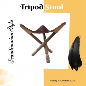 Tripod Leather stool , Folding Tripod, Camping Leather Stool, Fish Hunting Stool