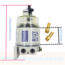 Fuel Filter/water Separator Replacement For Racor R12t With Fittings