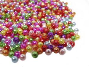 200stk.Glas Bastel Perlen wachsperlen Schmuck 4x4mm Pastell Blau GP0001-18