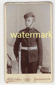 Boy soldier in uniform, with rifle, CDV