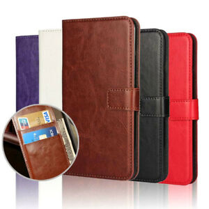 Wallet Book pouch Leather Card Slot kickstand Case Cover For latest Mobile Phone