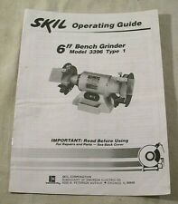 "Skil Operating Guide 6"" Bench Grinder Model 3396 Type 1"