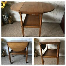 Vintage Oak Trolley Table