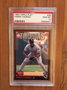 1993 Triple Play #26 Frank Thomas PSA 10 GEM MINT