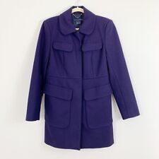 FRENCH CONNECTION Wool Cashmere Coat Jacket Size US 6 Purple Pockets