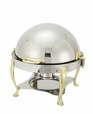Winco 308A, 6-Quart Vintage Round Roll Top Chafer
