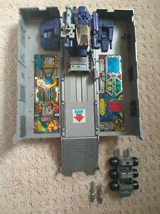 Optimus Prime Bloated Metal Plate Trailer G1 Original Transformer - Unbroken