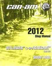 2012 Can-Am ATV Outlander & Renegade 800R 1000 service manual in 3-ring binder