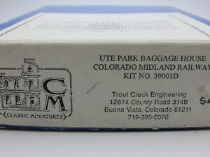Classic Miniatures HO #39001D Col. Mid. Baggage House / Ute Park Kit