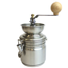 Edelstahl Kaffeemühle Keramik-Kegelmahlwerk Mahlgrad einstellbar Ø10x21.5cm