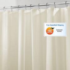 Shower Curtain Liner Sand 72x84 Mold Mildew Resistant Water Repellent Odorless