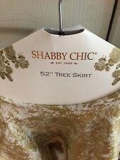 """SHABBY CHRISTMAS TREE SKIRT CHIC 52"""""""