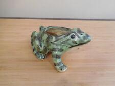 1) Vintage Brush McCoy Pottery Frog Planter