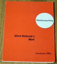 MORD (Werberatschlag '61) - ALFRED HITCHCOCK / HERBERT MARSHALL