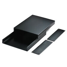 Aluminum Alloy Power Amplifier Chassis HIFI Vacuum Tube Box Case DIY 98*26*100mm