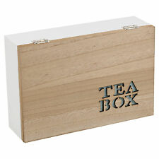 Natural Wooden Chic Tea Bag Box Twinings 70 Tea Bags, Free Delivery