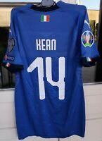 maglia calcio Moise Kean 14, match worn issued, Italia Finlandia, Psg Juventus